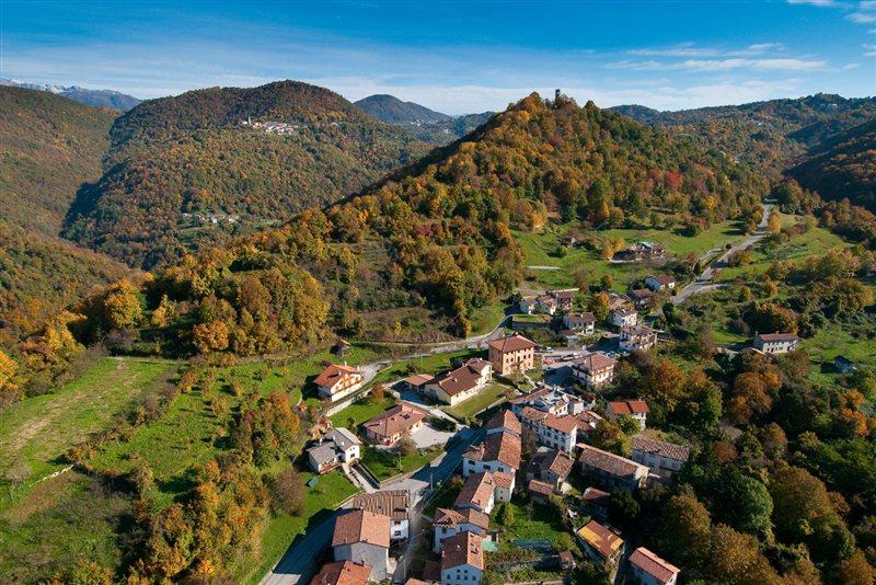 vista aerea del comune di Stregna
